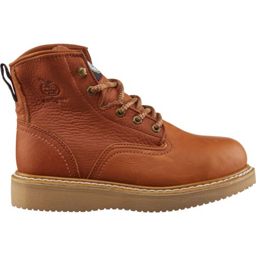 Display product reviews for Georgia Men's Barracuda Gold Wedge Steel-Toe Work Boots