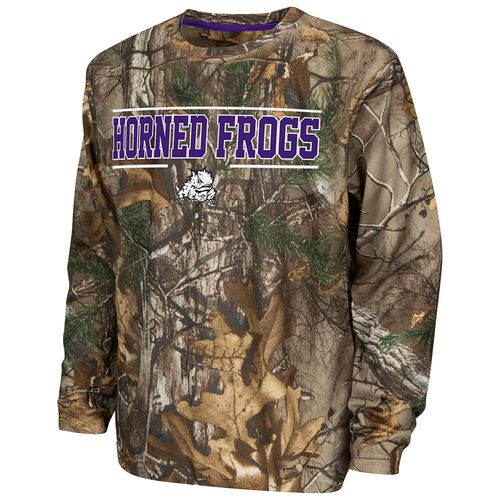 Colosseum Athletics™ Boys' Texas Christian University Pointer Long Sleeve Camo Shirt