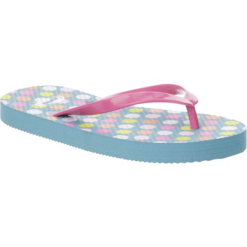 O'Rageous Girls' Glitter Strap Thong Flip-Flops - view number 2