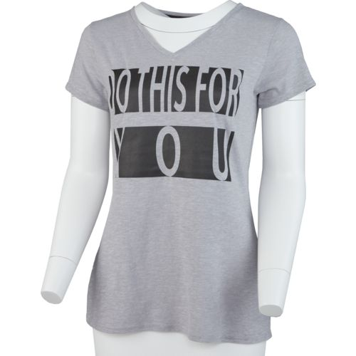 Display product reviews for BCG Women's Do This For You V-neck Graphic T-shirt