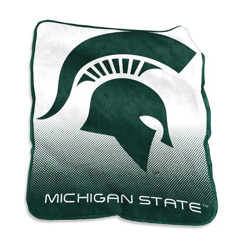 Logo Michigan State University 50 in x 60 in Raschel Throw
