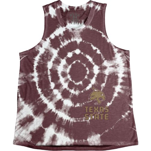 Blue 84 Women's Texas State University Retro Liquid Muscle Tank Top