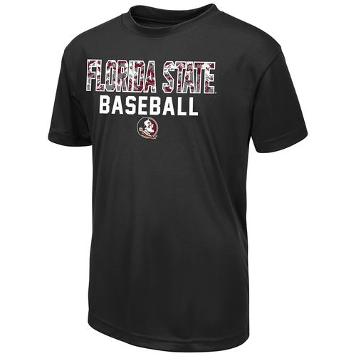 Colosseum Athletics Boys' Florida State University Digi Camo Baseball T-shirt