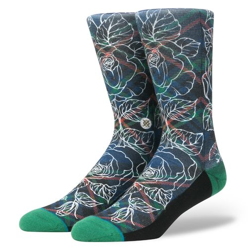 Stance Men's Wade Floral Plaid Socks