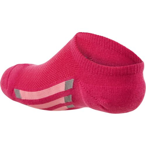 adidas Girls' Vertical Stripe No-Show Socks - view number 2