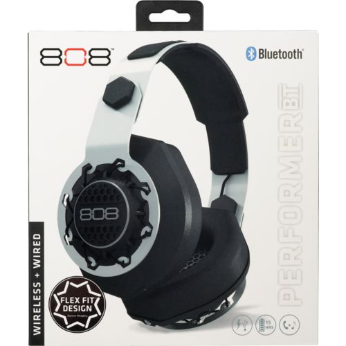 808 Audio Performer BT Wireless and Wired Over-the-Ear Headphones
