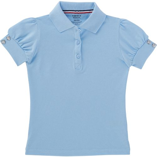 French Toast Toddler Girls' Puff Sleeve Uniform Polo