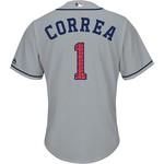 Majestic Men's Houston Astros Carlos Correa Stars and Stripes COOL BASE Jersey - view number 1