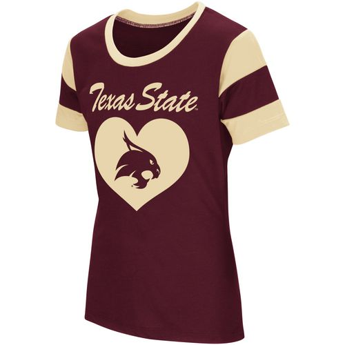 Colosseum Athletics Girls' Texas State University Bronze Medal Short Sleeve T-shirt