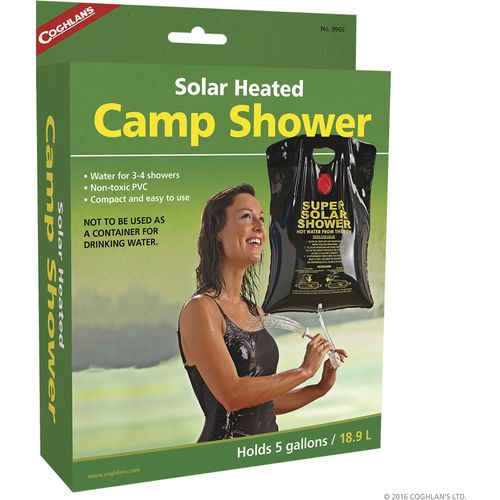 solarheated camp shower
