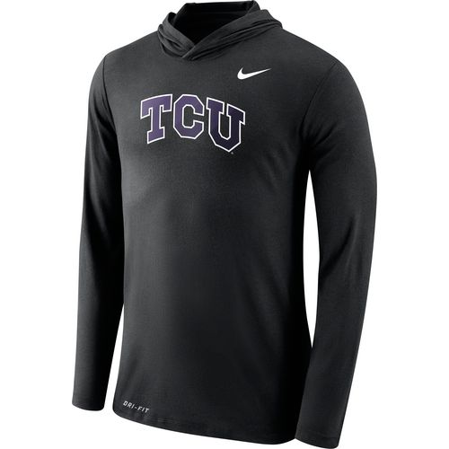 Nike Men's Texas Christian University Dri-Blend Long Sleeve Hoodie T-shirt