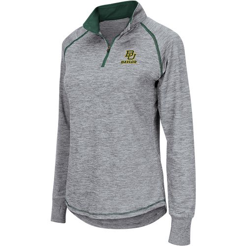 Colosseum Athletics Women's Baylor University Bikram 1/4 Zip Long Sleeve T-shirt