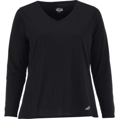 BCG Women's Turbo Plus Size V-neck Long Sleeve T-shirt