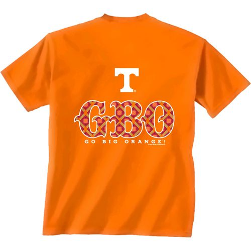 New World Graphics Women's University of Tennessee Comfort Color Initial Pattern T-shirt