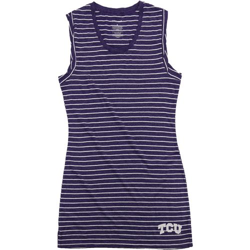 Boxercraft Women's Texas Christian University Striped Sleep T-shirt