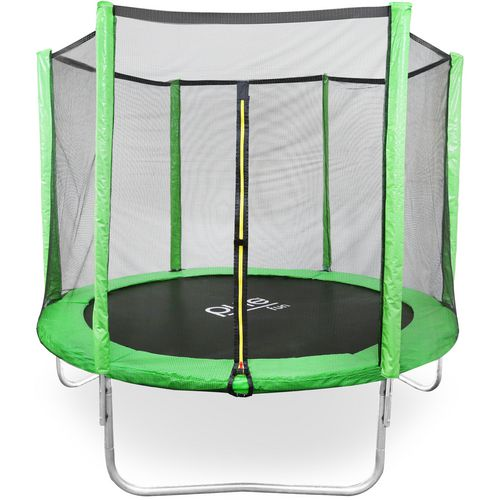 Pure Fun Dura-Bounce 8 ft Round Trampoline with Enclosure