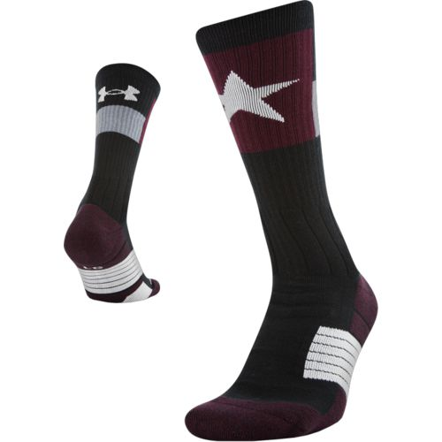 Under Armour Adults' Texas Flag Unrivaled Crew Socks