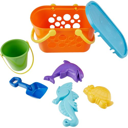American Plastic Toys 8-Piece Beach Basket Set