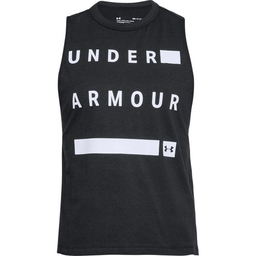 Under Armour Women's Linear Wordmark Muscle Tank Top - view number 3