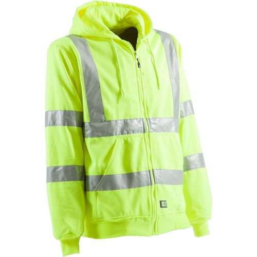 Berne Men's Hi-Visibility Lined Hooded Sweatshirt