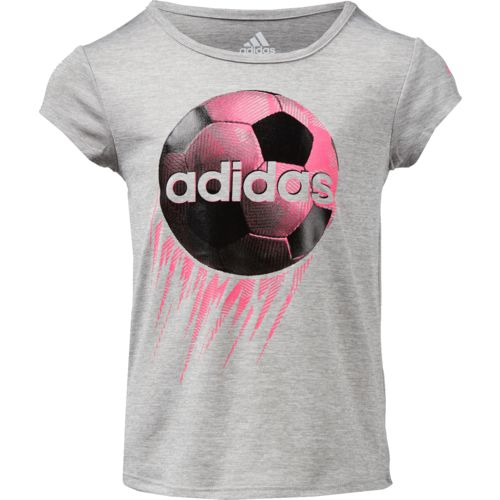 adidas Toddler Girls' climalite Rocket Ball T-shirt