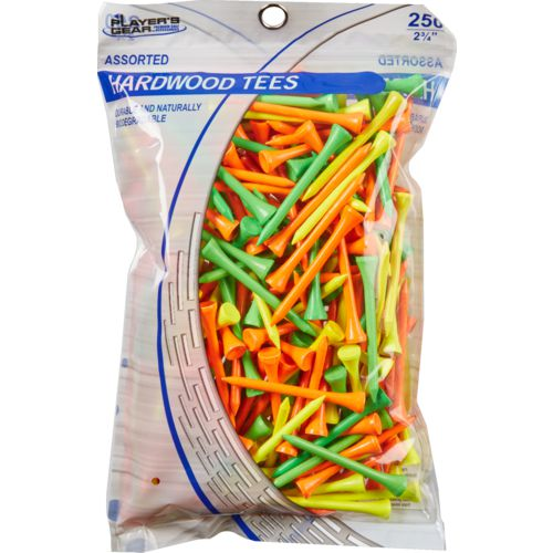 Players Gear 2-3/4 in Mixed Fluorescent Hardwood Golf Tees 250-Pack