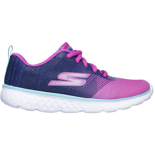 SKECHERS Girls' GOrun 400 PS Shimmer Zooms Running Shoes