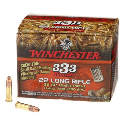 Image for Winchester 333™ .22 Long Rifle 36-Grain Ammunition from Academy