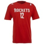 adidas Men's Houston Rockets Kevin Martin #12 Short Sleeve Basic T-shirt