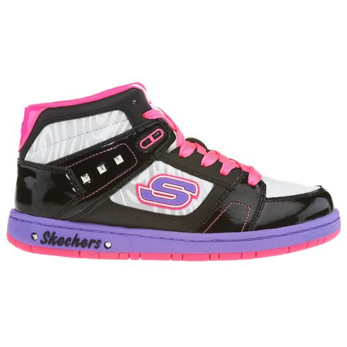 SKECHERS Girls' Sugarcane Shimmies High Athletic Lifestyle Shoes