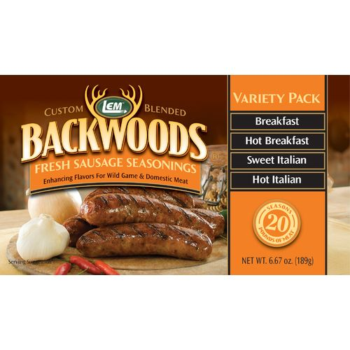 LEM Backwoods Fresh Sausage Seasoning Variety Pack
