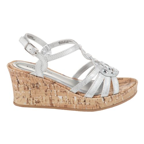 Autumn Run® Girls' Just For Girls Rhinestone Wedge Sandals
