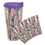 Tervis Mardi Gras Beads Wrap 24 oz. Tumbler with Lid