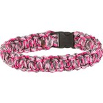Bison Designs Side-Release Medium Pink Camo Coreless Paracord Bracelet