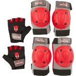 Marvel Boys' Spider-Man Webslinger Protective Gear Pad and Glove Set