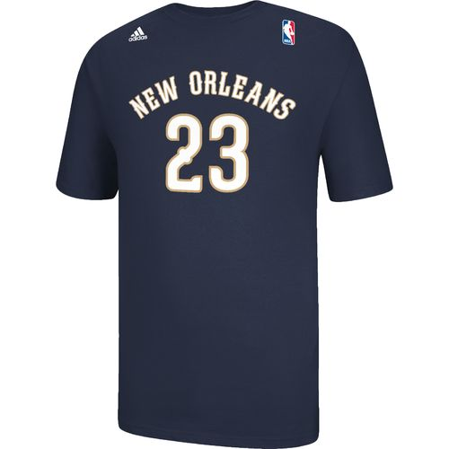 adidas Men's New Orleans Pelicans Anthony Davis No. 23 Game Time Flat T-shirt - view number 1