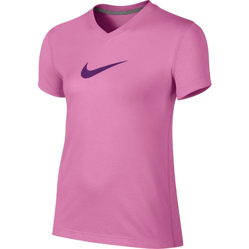 Image for Nike Girls' Legend Swoosh V-neck Fill Short Sleeve T-shirt from Academy