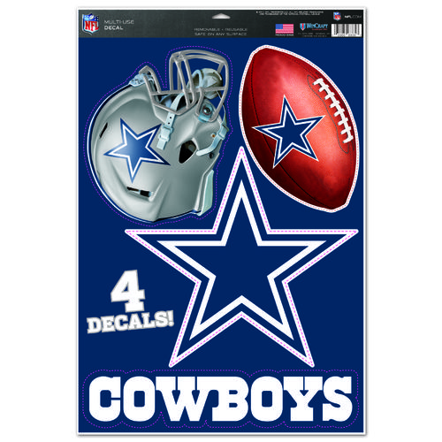 Display product reviews for WinCraft Dallas Cowboys Multiuse Decals 4-Pack
