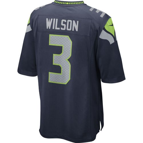 Nike Men's Seattle Seahawks Russell Wilson #3 Game Team Jersey - view number 2