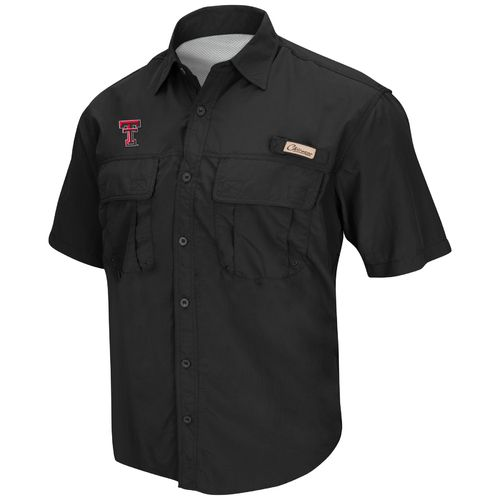 Colosseum Athletics Men's Texas Tech University Swivel Fishing Shirt