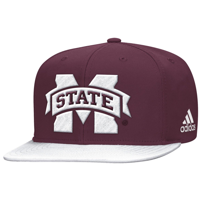 adidas™ Men's Mississippi State University Sideline Flat Brim Snapback Cap