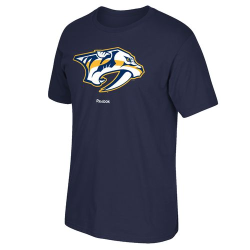 Reebok Men's Nashville Predators Face Off Jersey Crest T-shirt