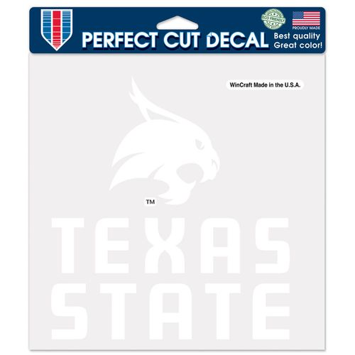 WinCraft Texas State University Perfect Cut Decal
