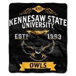 The Northwest Company Kennesaw State University Label Raschel Throw - view number 1