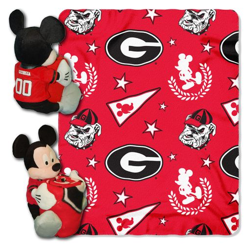 The Northwest Company University of Georgia Mickey Mouse Hugger and Fleece Throw Set