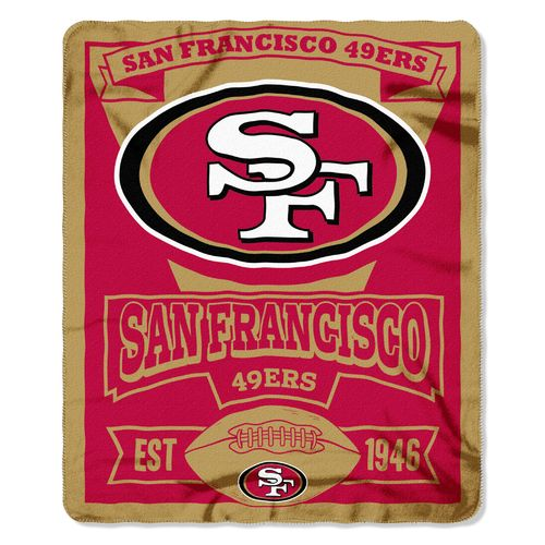The Northwest Company San Francisco 49ers Marquee Fleece Throw