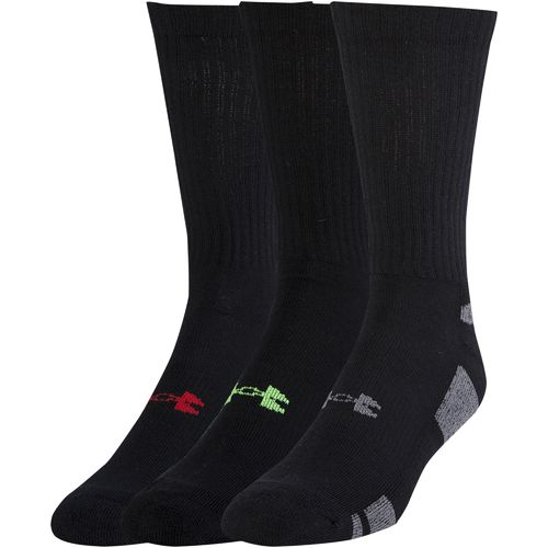 Under Armour™ Adults' HeatGear® Crew Socks 3-Pair