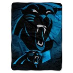 The Northwest Company Carolina Panthers Bevel Micro Raschel Throw