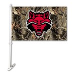 BSI Arkansas State University Realtree 2-Sided Car Flag