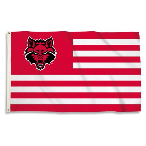 BSI Arkansas State University USA Motif Flag
